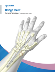 Manual cover for the Bridge Plate surgical technique guide