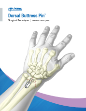 Dorsal Buttress Pin surgical technique manual cover