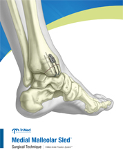 Medial Malleolar Sled surgical technique manual cover