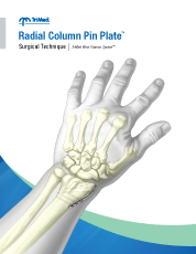 Radial Column Pin Plate surgical technique manual cover